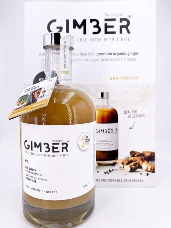 Gimber 1 - Jus concentré de gingembre bio - GIMBER 70cl