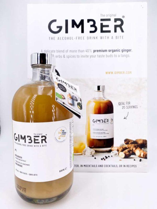 Gimber 2 - Jus concentré de gingembre bio - GIMBER 50cl