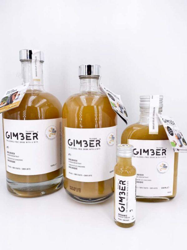 Gimber - Jus concentré de gingembre bio - GIMBER 50cl