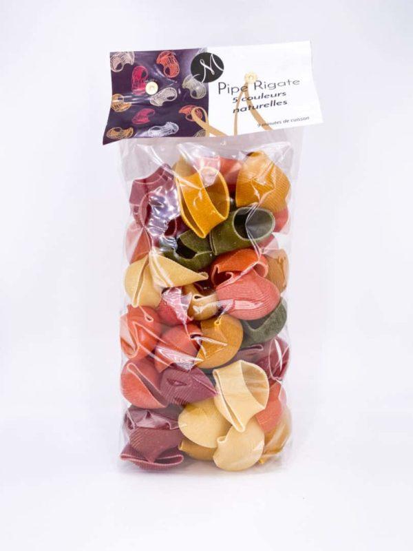 pates piperigate couleursnaturelles - Pipe Rigate, pâtes aux 5 couleurs naturelles 375G
