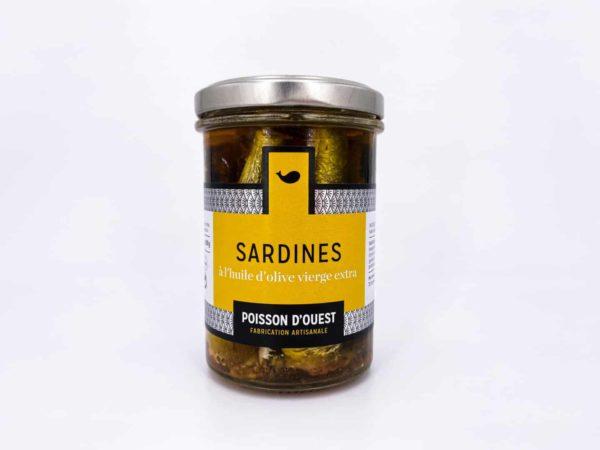 sardines huile olive - Sardines debout à l'huile d'olive vierge extra 200G