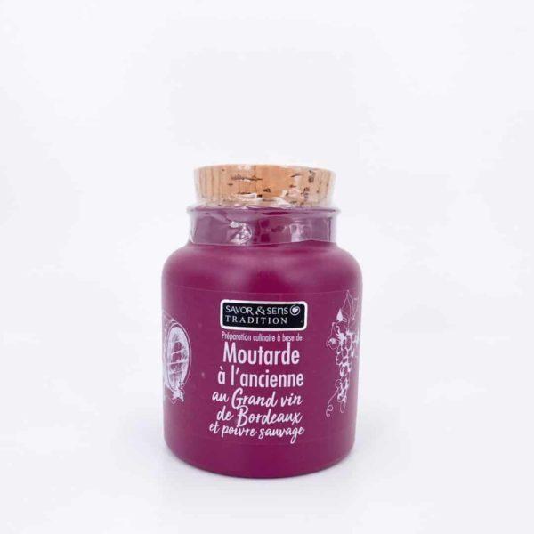 savor moutardes couleur grand vin bordeau poivre sauvage - Moutarde à l'ancienne - GRAND VIN DE BORDEAUX 110G