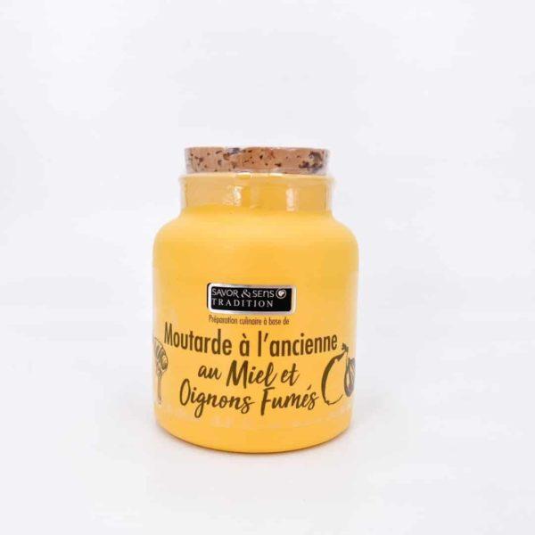 savor moutardes couleur miel et oignon fume - Moutarde - MIEL ET OIGNONS FUMÉS 110G