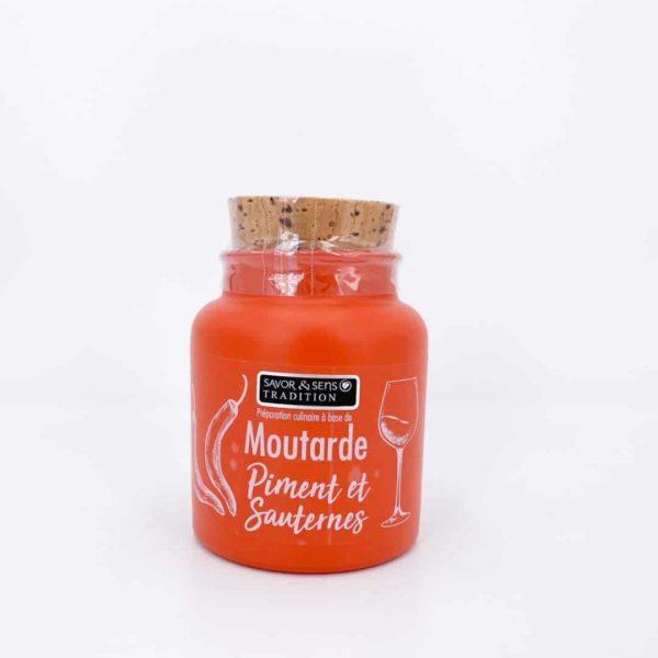 savor moutardes couleur piments au sauternes - Moutarde - PIMENT ET SAUTERNES 110G