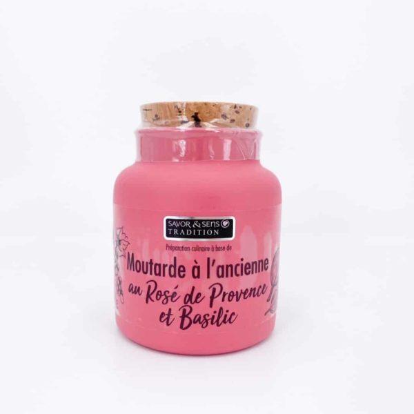 savor moutardes couleur rose de provence basilic - Moutarde - ROSÉ DE PROVENCE ET BASILIC 110G