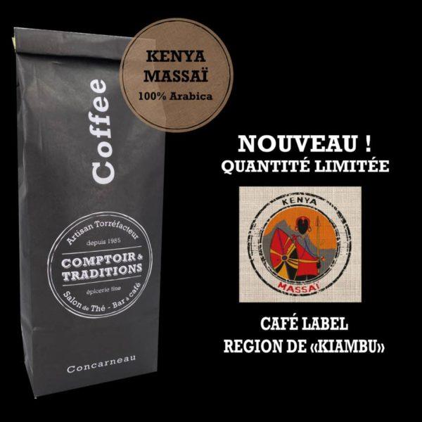 "KENYA MASSAI - Café KENYA MASSAÏ ""Région de KIAMBU"" 250G grains"